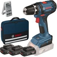 Bosch GSR 18-2-LI Professional inkl. 3 x 1,5 Ah + Tasche 0615990J50