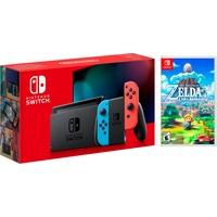 Nintendo Switch neon-rot / neon-blau + The Legend of Zelda: Link's Awakening (Bundle)