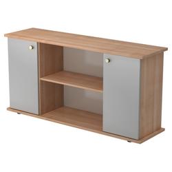 KAPA SB | Sideboard | mit Türen - Nussbaum/Silber mit Knauf Sideboard