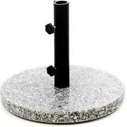 VCM Sonnenschirmständer 10kg Granit poliert grau rund Stahlrohr Schirmständer Ø 40cm