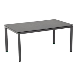 MWH Alutapo Gartentisch 160x95 cm Aluminium/Creatop Basic Dunkelgrau