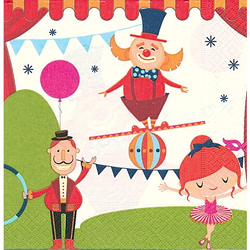 """Papierservietten """"Zirkus"""", 33 x 33 cm, 20 Stück"""
