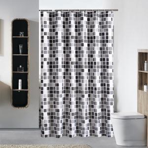Duschvorhang Anti-Schimmel & Wasserdicht Mosaik Badvorhang mit verstärktem Saum, mit Haken 120/150/180/200/220/240 x 200cm