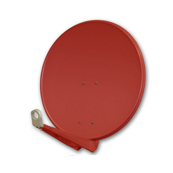 PremiumX DELUXE85 Satellitenschüssel 85 cm Sat Schüssel aus Aluminium in Ziegelrot Offset Satelliten Antenne FullHD 3D 4K Ultra HD SAT-Antenne