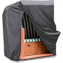 WEHNCKE Strandkorb Schutzhülle XL - Gartenmöbel Hülle Abdeckhaube Abdeckung 420D Größe: Breite 155 cm