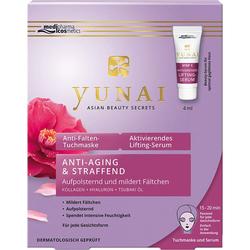 YUNAI Anti-Falten-Maske 25g+aktiv.Lifting-Ser.4ml 1 P