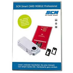 SCM Smart CARD MOBILE Professional – Kartenleser plus Software zum lesen der SIM Karte / diverse anderer SmartCards / Online Banking