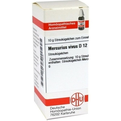 MERCURIUS VIVUS D 12 Globuli 10 g