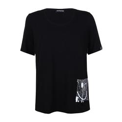 Shirt mit Pailletten-Tasche seeyou schwarz