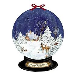 Nostalgische Schneekugel  Wand-Adventskalender