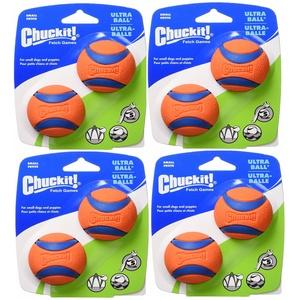 Chuckit. Hundespielzeug FETCH Ultra Ball Haltbares Gummi passt Launcher Kleine 8 Kugeln
