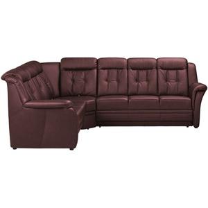 Polstermöbel Oelsa Komfort-Ecksofa aus Leder  Andorra ¦ rot » Möbel Kraft