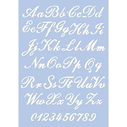 """Schablone """"Alphabet Schreibschrift"""", 21 x 29,7 cm"""
