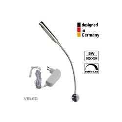 VBLED LED Leselampe 2er-Set VBLED LED Wandleuchte - 3W - 40cm Schwanenhals - DIMMBAR, LED Schwanenhalslampe