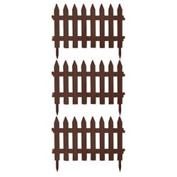 BigDean Gartenzaun Classic Weiß 3,22m x 0,35m Beetbegrenzung Beeteinfassung Zaun