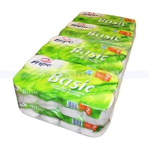 Toilettenpapier Fripa Tissue Recycling Basic weiss 64 Rollen 64 Rollen/Paket x 250 Blatt, Klopapier 2-lagig