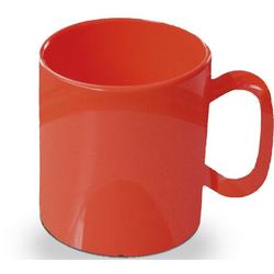 WACA Becher (4-tlg), 325 ml, Kunststoff rot