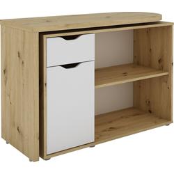 Homexperts Schreibtisch Turner, mit drehbarer Tischplatte natur
