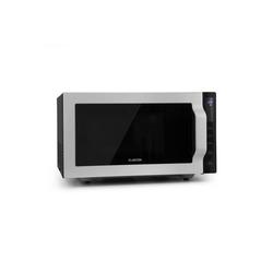 Klarstein Mikrowelle Brilliance Roomy Mikrowelle 900W 25l 6 Leistungsstufen Grill silber, Erwärmen, Grillen, Kochen