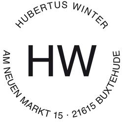 Stempel Name & Adresse 4,5 cm Motiv H (Initialen positiv)