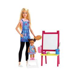 Mattel® Anziehpuppe Barbie Kunstlehrerin Puppe (blond) und Spielset