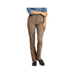 Farbige Straight Fit Jeans Mid Waist, Damen, Größe: 36 34 Normal, Braun, Baumwolle, by Lands' End, Roggen - 36 34 - Roggen