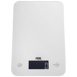 ADE Küchenwaage KE 926 - Slim, mit Sensor-Touch, 15 mm flach, grammgenau bis 5kg weiß 15,2 cm x 23,2 cm x 1,5 cm