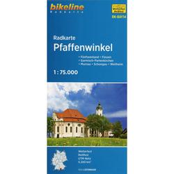 Bikeline Radkarte Pfaffenwinkel 1 : 75 000 - Fahrradkarten