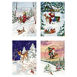 Mini-Adventskalender - Nostalgischer Glitzertraum