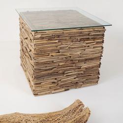 Tisch Marco Treibholz-Glas Natur-Klar