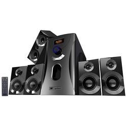Home-Theater Surround-Sound-System 5.1, 160 Watt, MP3, Radio, schwarz