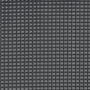 Tenax Texstyle Dekostoff aus PVC und Polyester, Fäden in 3 Farben schwarz-silber-grau, 1,00 x 25 m