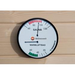 WEKA Thermometer , mit 2 Anzeigetafeln weiß