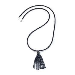 Walbusch Damen Kristallperlen Kette einfarbig Schwarz 01