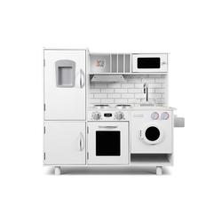 Baby Vivo Spielküche Kinderküche Spielküche aus Holz - Bruno in Weiß
