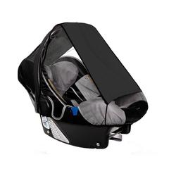 sunnybaby Babyschale Sonnensegel für Babyschale UPF 50+ Schutz, natur schwarz