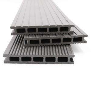 HORI® WPC-Terrassendielen Malta grau I Komplett-Set inkl. 40x60 mm Unterkonstruktion & Clips I Dielenlänge 3,20 m I Fläche 11 m2
