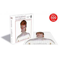 empireposter Puzzle David Bowie Aladdin Sane - 500 Teile LP Cover Puzzle im Format 39x39 cm, 500 Puzzleteile