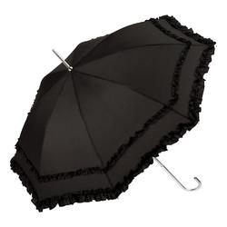 von Lilienfeld Stockregenschirm Göthic Rüschenschirm schwarz, Rüschen