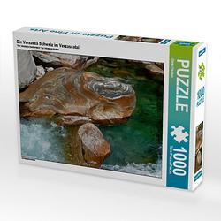 Die Verzasca Schweiz im Verzascatal Lege-Größe 64 x 48 cm Foto-Puzzle Bild von Dieter Fischer Puzzle