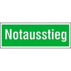 Fluchtwegschild Folie Notausstieg (B x H) 300mm x 105mm 1St.