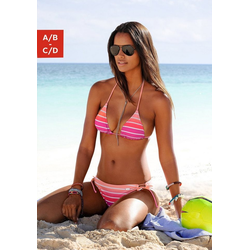 Venice Beach Triangel-Bikini in Neonfarben rosa 36