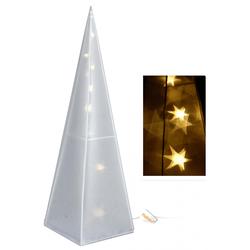 Hologramm Pyramide 43 cm - 16 LED Weihnachtsbeleuchtung Weihnachtsdeko