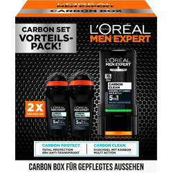 L'ORÉAL PARIS MEN EXPERT Deo-Set Carbon Box mit Deo + Duschgel, 3-tlg.