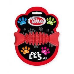 Hundespielzeug Kauspielzeug Knochen Rindfleisch Geschmack 10,5cm red