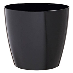 PAPERFLOW   Übertopf Kunststoff 20,0 x 20,0 x 18,0 cm schwarz