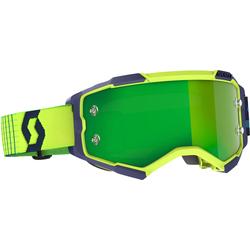 Scott Fury blau/gelbe Motocross Brille, blau-gelb