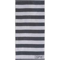 Esprit Block Stripe Handtuch (2x50x100 cm) silver