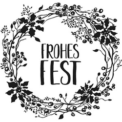 Rayher Frohes Fest Motivstempel Weihnachtskranz