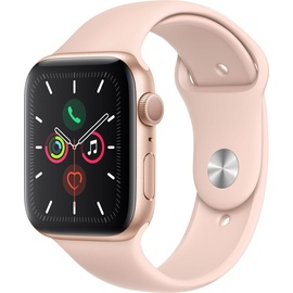 Apple Watch Series 5 (GPS) 44mm Aluminiumgehäuse Gold, Sportarmband Sandrosa